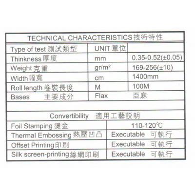 Спецификация материала Linen