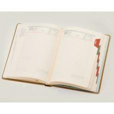Ежедневник А5 ДАТ кремовый